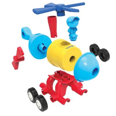 1-2-3 Build It!™ raket-trein-helikopter