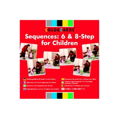 Colorcards - Volgordekaarten van 6 en 8 stappen voor kinderen