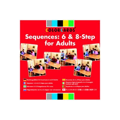 Colorcards - Volgordekaarten van 6 en 8 stappen voor volwassenen