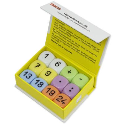 Dobbelsteenset Mathematik - 12-delig - 20 mm. - In doos