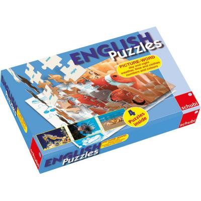 English Puzzles - Dag en nacht, weer, tijd en kleren, getallen en kleuren