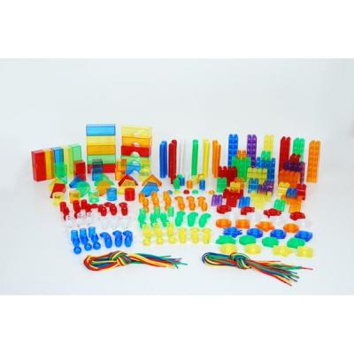 Gekleurde doorzichtige vormen (set van 634)