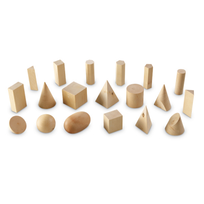 Houten geometrische vormen