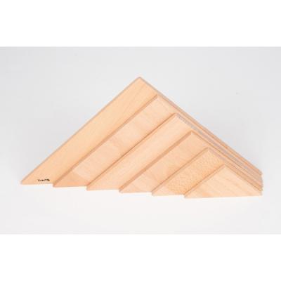 Natuurlijke architect driehoekige panelen - Set van 6