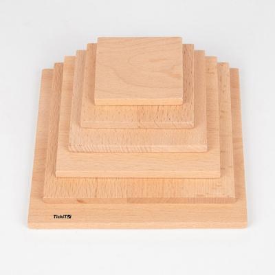 Natuurlijke architect vierkante panelen - Set van 6