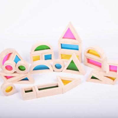 Regenboog blokkenset - Set van 24