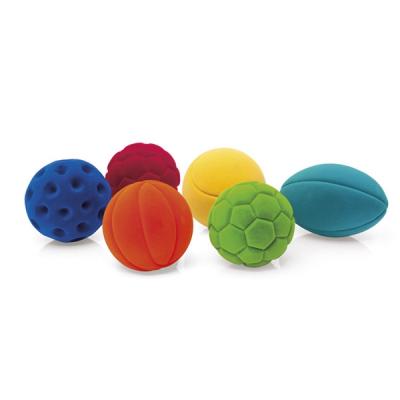 Rubbabu Mini Sport Ballen - Set van 6 / Lot de 6 balles de sport Rubbabu