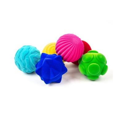 Rubbabu - Tactiele ballen - Set van 6 / Lot de 6 balles tactiles Rubbabu