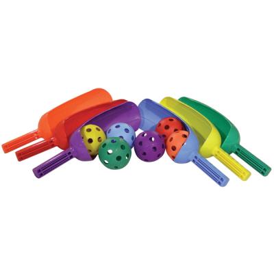 Scoop Set met 6 gekleurde knuppels en ballen