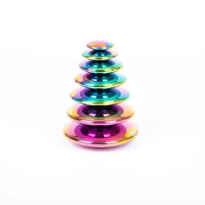 Sensorische gekleurde spiegelende schijven - Set van 7