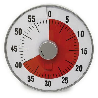 TimeTEX - Tijdsduurklok - Geluidloos - L - Diameter 19 cm
