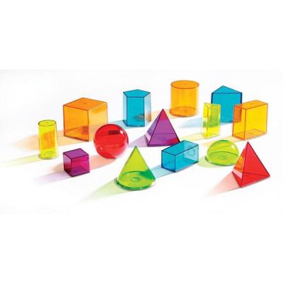 Learning Resources - View-Thru - Geometrische gekleurde vormen - Set van 14